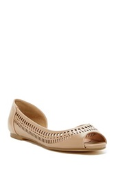 Restricted Miko Peep Toe Flat Beige