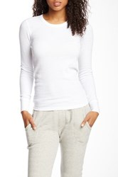 Alternative Apparel Long Sleeve Crew Neck Thermal Shirt White