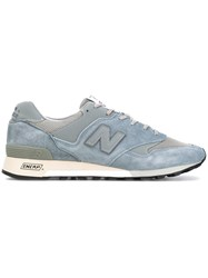 New Balance Made In England Sneakers Men Leather Suede Nylon Rubber 7 Blue
