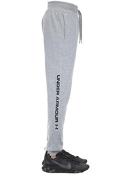 Under Armour Rival Sportstyle Logo Cotton Joggers Light Grey