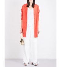 Harris Wharf Cocoon Wool Coat Coral