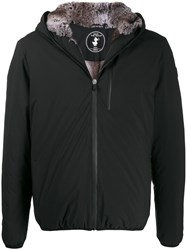Save The Duck Short Hooded Jacket Black