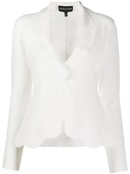 Emporio Armani Scalloped Trim Blazer 60