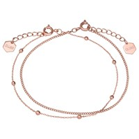 Cluse Double Chain Ball Bead Bracelet Rose Gold
