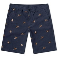 Barbour Feature Embroidery Short Blue