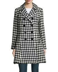 Sofia Cashmere Houndstooth Double Breasted Princess Coat