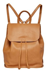 Urban Originals Midnight Faux Leather Flap Backpack