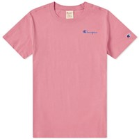 Champion Reverse Weave 'S Small Script Logo Tee Pink