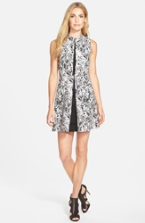 Michael Michael Kors 'Lake' Print Pleated Cotton Sateen Dress Regular And Petite