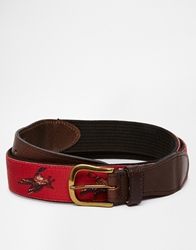 Barbour Country Belt Red