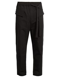 Damir Doma Paivi Drawstring Cotton Trousers Black
