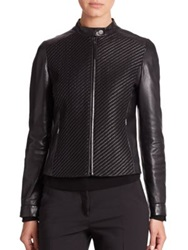 Max Mara Placido Leather Jacket Black