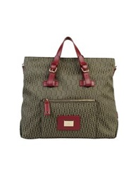 Aigner Large Fabric Bags Military Green