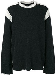 Lost And Found Ria Dunn Contrast Panel Sweatshirt Black