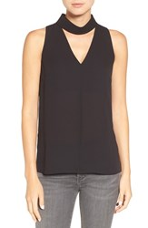 Trouve Women's Choker Collar V Neck Tank