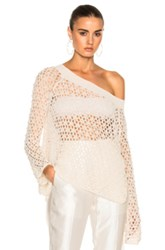 Jonathan Simkhai Cage Pearl Off Shoulder Top In White