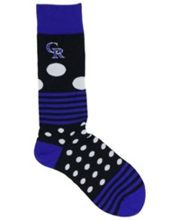 For Bare Feet Colorado Rockies Dots And Stripes 538 Socks