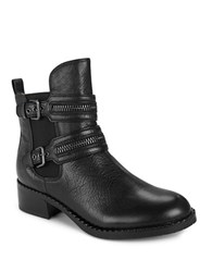 Gentle Souls Barberton Textured Leather Ankle Boots Black