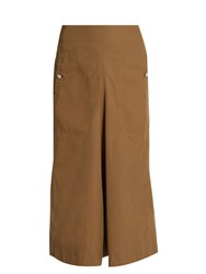 Christophe Lemaire A Line Cotton Blend Skirt Tan