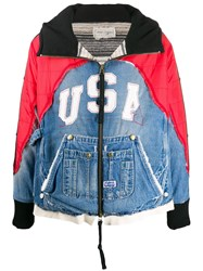 Greg Lauren Usa Patch Contrast Panel Jacket 60