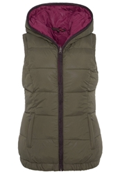 Tom Tailor Denim Waistcoat Grape Leaf Green Oliv