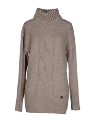 Blugirl Folies Knitwear Turtlenecks Women Light Grey