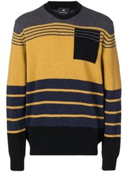 Paul Smith Ps By Colour Block Sweater Yellow
