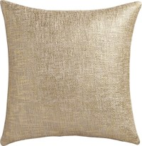 Cb2 Glitterati Gold 18'' Pillow With Feather Down Insert