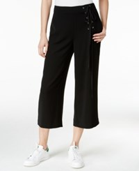 Rachel Roy Cropped Lace Up Pants Black