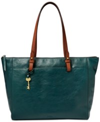Fossil Rachel Tote With Zipper Black