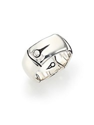 John Hardy Bamboo Sterling Silver Wide Band Ring