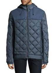 Nobis Diamond Down Filled Hooded Jacket Foggy Blue