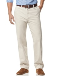 Nautica Big And Tall Pants Anchor Flat Front Twill Pants Stone