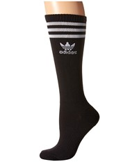 Adidas Originals Roller Knee High Sock 1 Pair Pack Black White Women's Knee High Socks Shoes