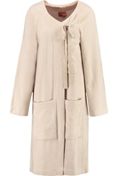 Missoni Cashmere Wool And Silk Blend Coat Nude