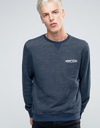 Sisley Textured Sweat With Pocket Detail Navy