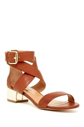 Ciao Bella Cobble Heel Sandal Brown