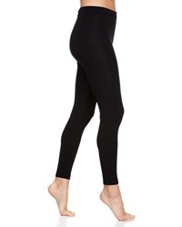 Neiman Marcus Fleece Lined Ponte Ankle Tights Black