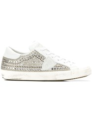 Philippe Model Paris Studded Sneakers White