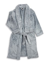 Black Brown Belted Robe Silverline