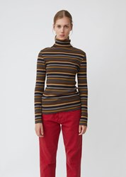 6397 Striped Turtleneck Navy Stripe