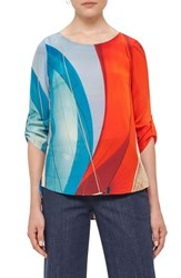 Akris Punto Women's 'Mainsail' Print Silk Blouse