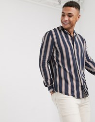Solid Stripe Shirt In Blue