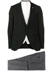 Manuel Ritz Two Piece Suit Black