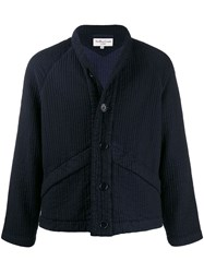 Ymc Quilted Long Sleeve Jacket Blue