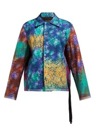 Craig Green Floral Print Quilted Jacket Blue Multi
