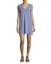 Current Elliott The V Neck Trapeze Dress Heather Grey