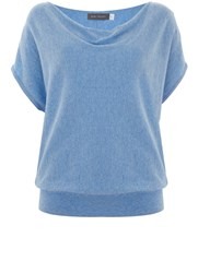 Mint Velvet Bluebell Short Sleeve Batwing Blue
