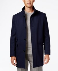 Kenneth Cole New York Tweed Overcoat Denim