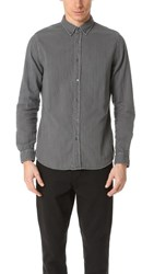 Baldwin Denim Otis Double Face Gauze Shirt Distressed Granite